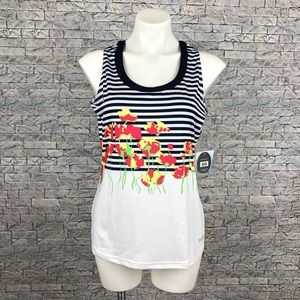 New Bolle Floral Stripe Extra Dry Tennis Tank Top